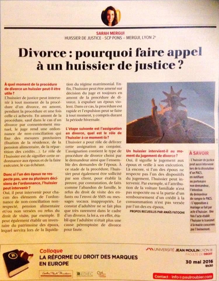 Divorce : pourquoi faire appel à un huissier de Justice ?